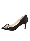 Womens Black Satin Emma 7