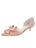 Womens Blush Satin Cliff d'Orsay Kitten Heel Alternate View