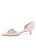 Womens Blush Satin Darla d'Orsay Kitten Heel 7