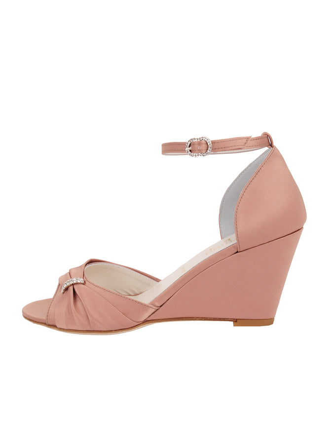 Womens Blush Satin Queenie 7