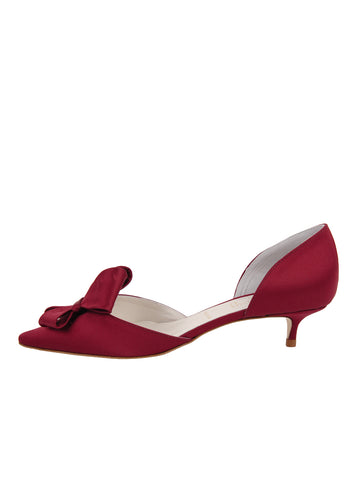 Womens Chianti Satin Cliff d'Orsay Kitten Heel 7