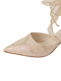 Womens Citron Holographic Elvie Pointed Toe Pump 6