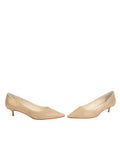 Womens Gold Wash Linen Bryn Kitten Heel 5