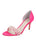 Womens Hot Pink Satin d'Orsay Sandal Alternate View