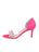 Womens Hot Pink Satin d'Orsay Sandal 7