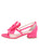 Womens Hot Pink Satin Isola 7