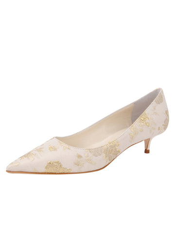 Womens Ivory Romance Bryn Kitten Heel Alternate View