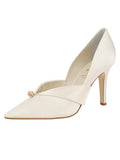 Womens Ivory Satin Selah Pointed Toe Pump