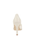 Womens Ivory Satin Selah Pointed Toe Pump 2