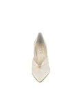 Womens Ivory Satin Selah Pointed Toe Pump 4
