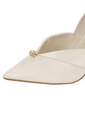 Womens Ivory Satin Selah Pointed Toe Pump 6