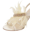 Womens Ivory Satin Hagan 6