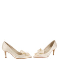 Womens Ivory Pointed Toe Pump 5