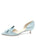 Womens Light Blue Satin Cliff d'Orsay Kitten Heel 7