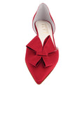 Womens Lipstick Satin Cliff d'Orsay Kitten Heel 4