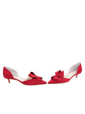 Womens Lipstick Satin Cliff d'Orsay Kitten Heel 5
