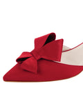 Womens Lipstick Satin Cliff d'Orsay Kitten Heel 6