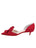 Womens Lipstick Satin Cliff d'Orsay Kitten Heel 7