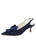 Womens Navy Fiji Satin Nicole Slingback Bow Pump Alternate View