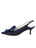 Womens Navy Fiji Satin Nicole Slingback Bow Pump 7