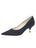 Womens Navy Moire Noris Pointed Toe Kitten Heel Alternate View