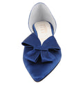 Womens Navy Satin Cliff d'Orsay Kitten Heel 4
