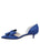 Womens Navy Satin Cliff d'Orsay Kitten Heel 7