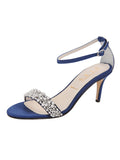 Womens Navy Satin Gemma