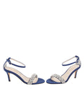 Womens Navy Satin Gemma 5