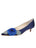 Womens Navy Satin Bo Pointed Toe Kitten Heel Alternate View