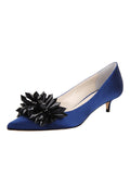 Womens Navy Satin Britt