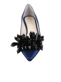 Womens Navy Satin Britt 4