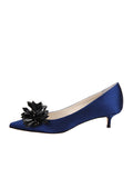 Womens Navy Satin Britt 5