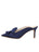 Womens Navy Satin Etu Pointed Toe Mule 7