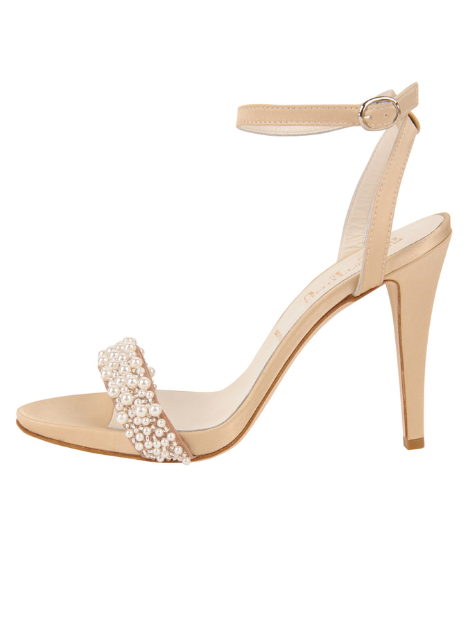 Womens Nude Satin Mobster 7