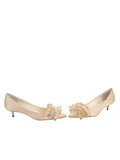 Womens Nude Satin Britt 5