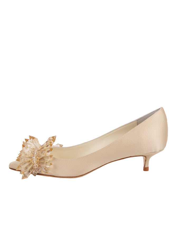 Womens Nude Satin Britt 7