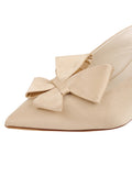 Womens Nude Satin Etu Pointed Toe Mule 6