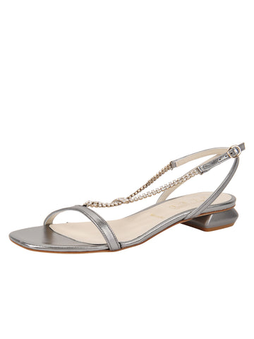 Womens Pewter Yvette Embellished Flat Sandal Alternate View