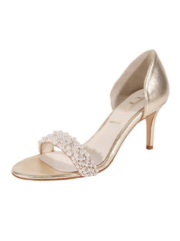 Womens Platinum Metallic d'Orsay Sandal Alternate View
