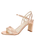 Womens Rose Gold Nappa Lux Grace Sandal