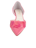 Womens Rose Pink Satin Bunty D'Orsay Kitten Heel 4