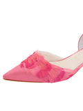 Womens Rose Pink Satin Bunty D'Orsay Kitten Heel 6