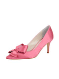 Womens Rose Pink Pointed Toe Pump