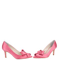 Womens Rose Pink Pointed Toe Pump 5