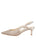 Womens Silver Wash Linen Nadette Pointed Toe Slingback 7