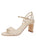 Womens Speckled White Platinum Grace Sandal Alternate View