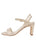 Womens Speckled White Platinum Grace Sandal 7