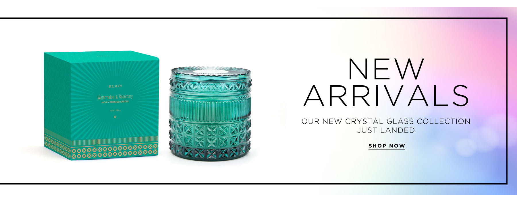 Spotlight on the new Crystal Glass collection
