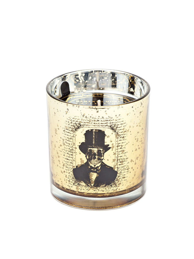 Man With Hat Halloween Tumbler Candle - Amber